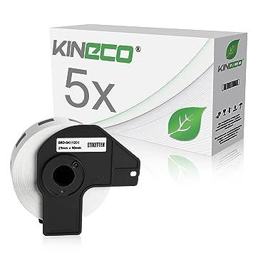 2x kompatible Label Etiketten Rollen für Brother P Touch QL 710 W DK11201 W Eco