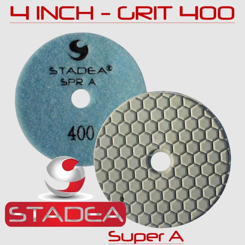STADEA 4'' Dry Diamond Polishing Pads for granite Marble Concrete Stone Granite Tile Polishing Kit - 5 Pcs Pads, 1 Rubber Backer (5/8'' 11) Set by STADEA (Image #6)