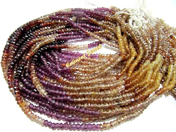 Size-3.00-4.00mm WR-009 7 Inch Strand Natural White Rainbow Fancy Faceted Rondelle Shape Beads Super Quality