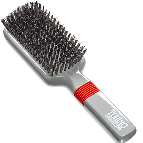 Torino Pro Hard Wave Brush By Brush King   #1570   Rubber Grip Vertical Brush   9 Row   360 Wave Brushes  Great For Wolfing by Torino Pro Wave Brushes By Brush King