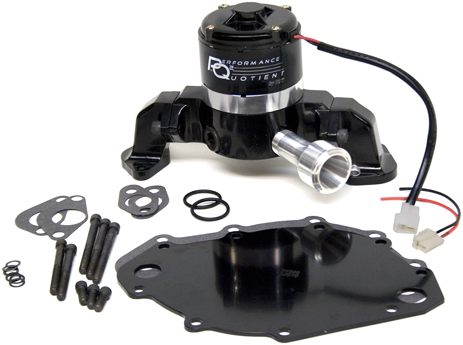 PRW 4446017 Black Powder-coated Performance Quotient Electric Racing Water Pump for Ford BB 400-460