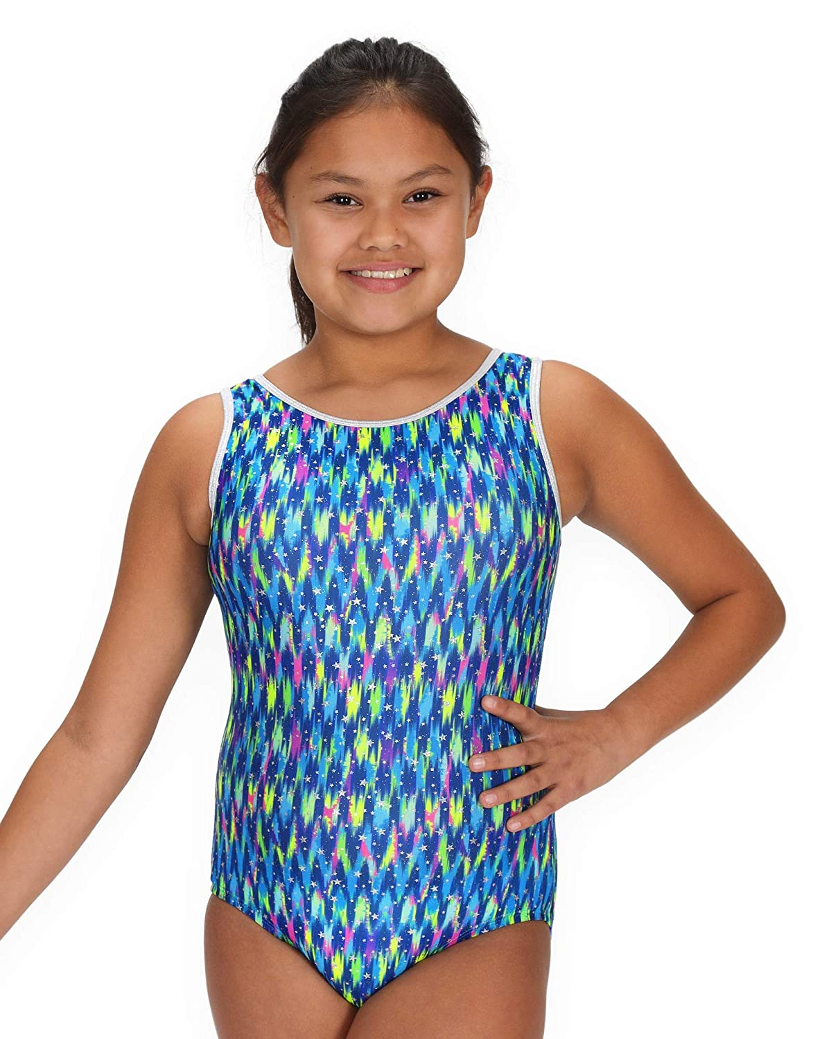 1ffa74590c2b Amazon.com : Pelle Leap Gear Gymnastics Leotard for Girls - Turquoise,  Teal, Blue and Green Collection : Sports & Outdoors
