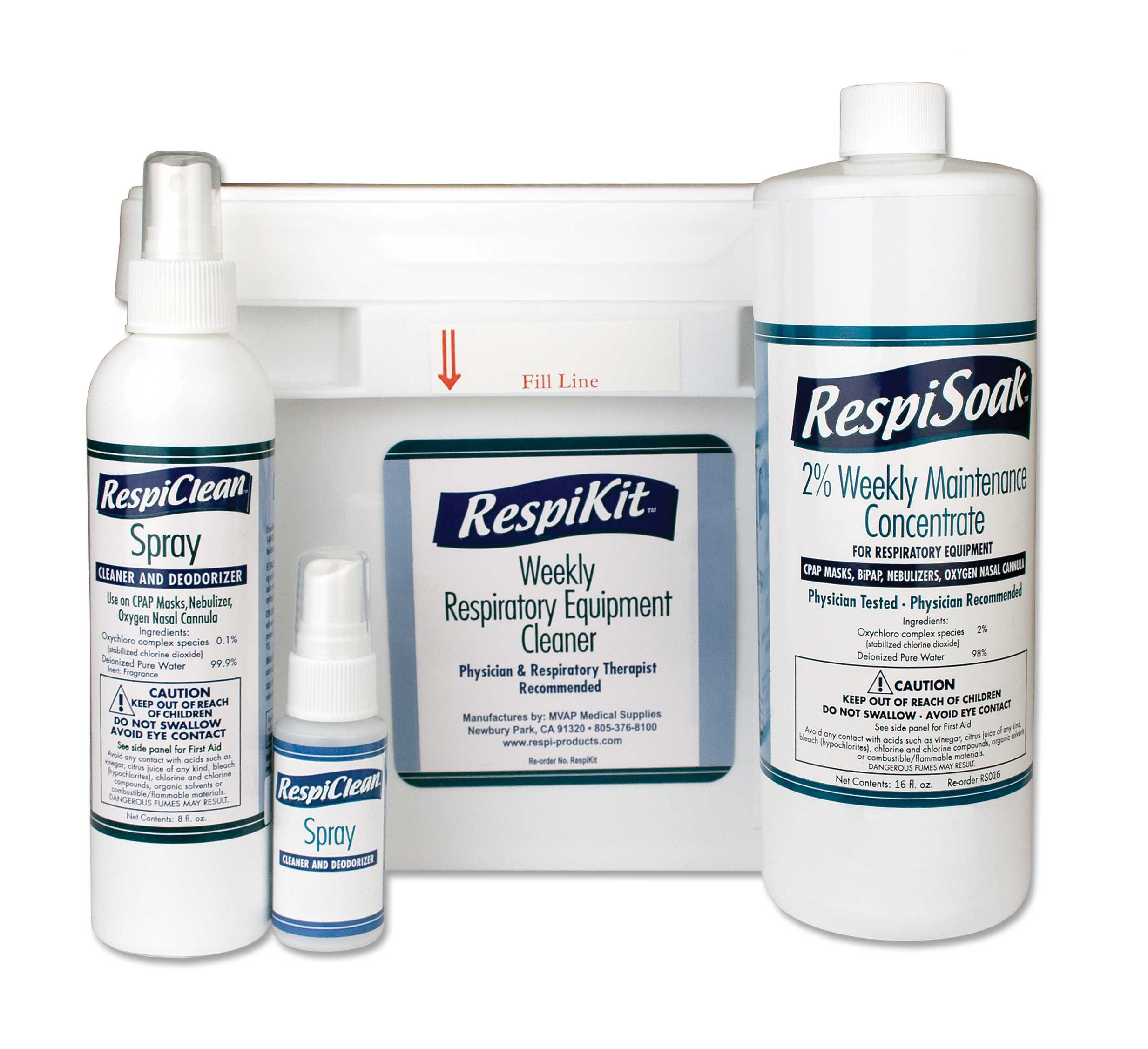 Respikit Respiratory Amp Cpap Equipment Cleaning Kit By Mvap