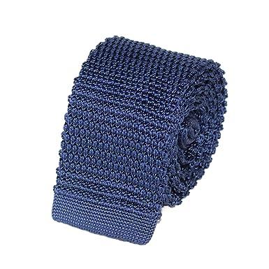 lisse fabrication habile 100% authentique TIECLUB - Cravate Tricot Homme en Maille 100% Soie - 5,5 cm de Largeur -  Choisissez Votre Couleur
