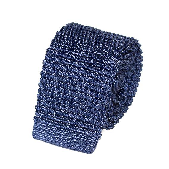 4ff73785bba63 TIECLUB - Cravate Tricot Homme en Maille 100% Soie - 5,5 cm de ...