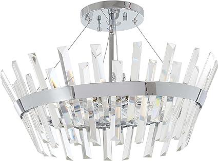 Minka Lavery Semi Flush Mount Crystal Ceiling Light 4811 77 Echo