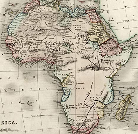 19th Century Africa Map.Amazon Com Africa Mts Of Moon Hand Revisions Amendments C 1836