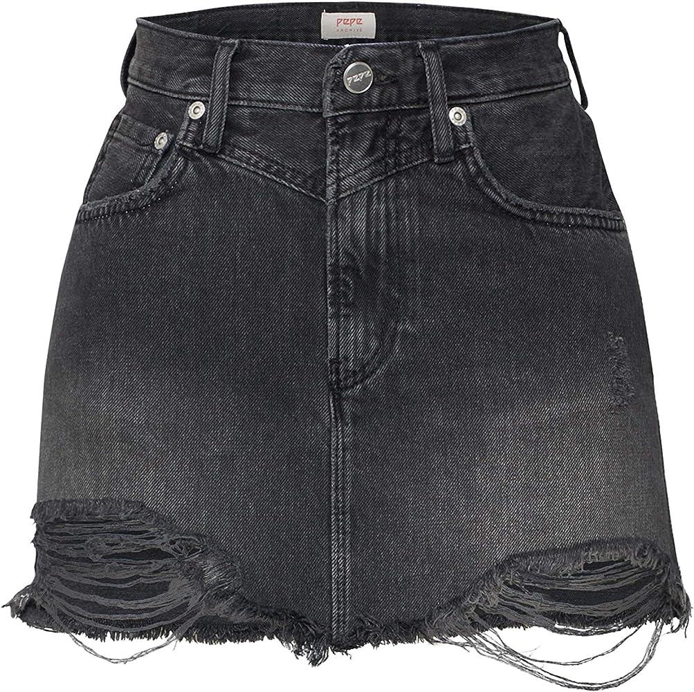 Pepe Jeans Falda Rachel Negra para Mujer x-Small Negro: Amazon.es ...