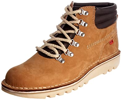 387a7a95 Kickers Men's Kick Hi Hike Dark Tan Lace Up Boot Leather 1-10202 9 ...