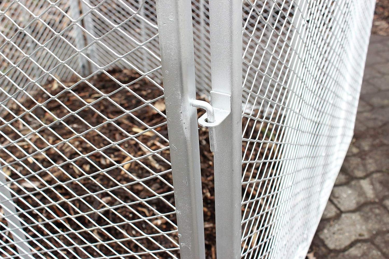 TRUTZHOLM Komposter Feuerverzinkt Metallkomposter aus Streckmetall Gartenkomposter Metallgitter 100x100x80 cm
