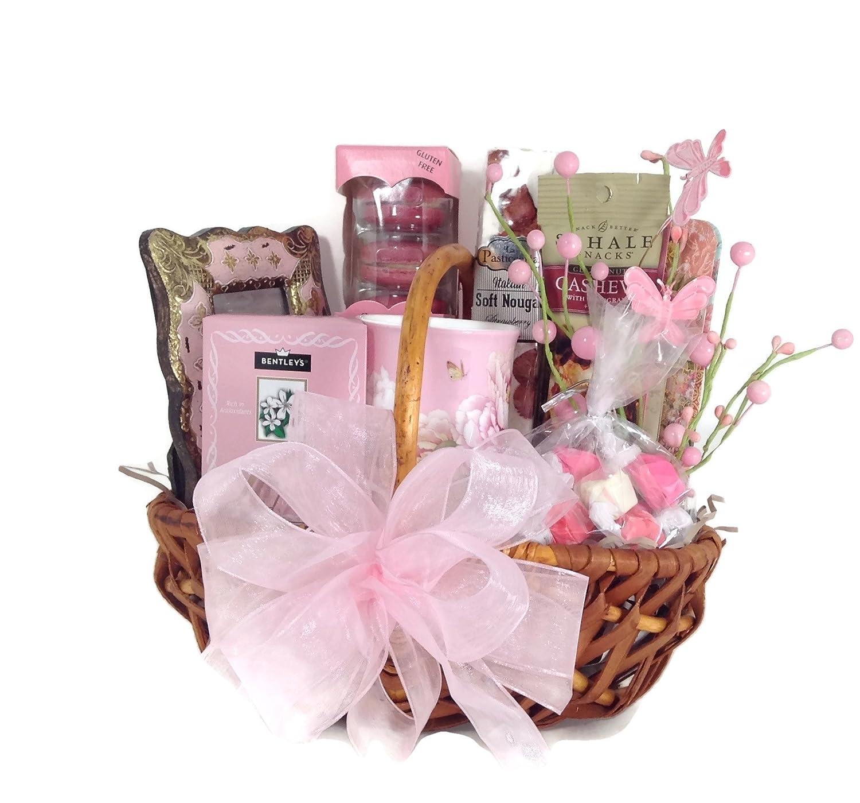 Amazon.com : 2 Sisters Gift Baskets Tea Rose Gift Basket : Grocery ...