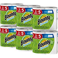 Deals on 12-Count Bounty Quick-Size Paper Towels Family Rolls