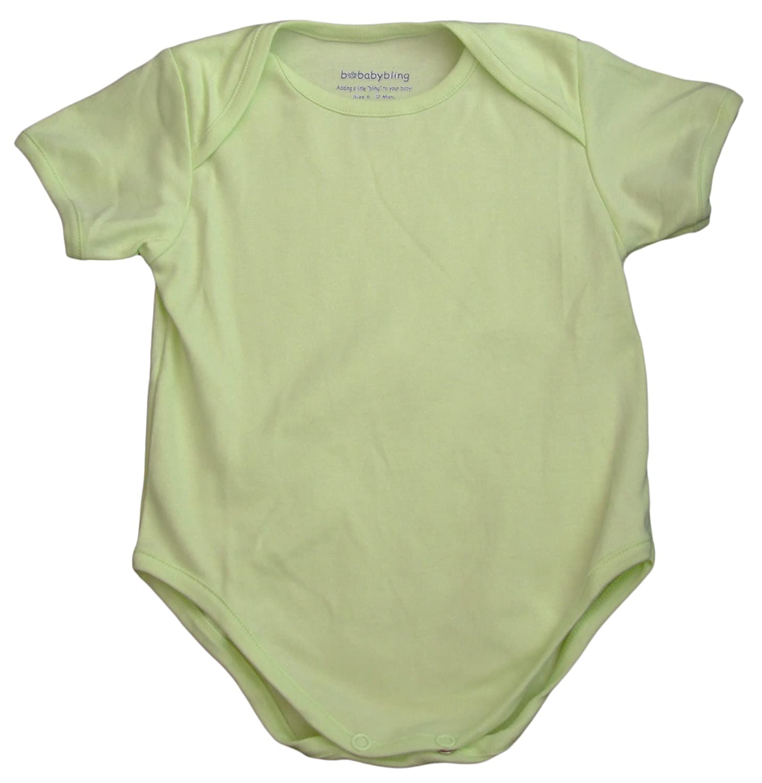 Amazon.com: Pima Cotton Blank Short Sleeve Bodysuit: Infant And ...
