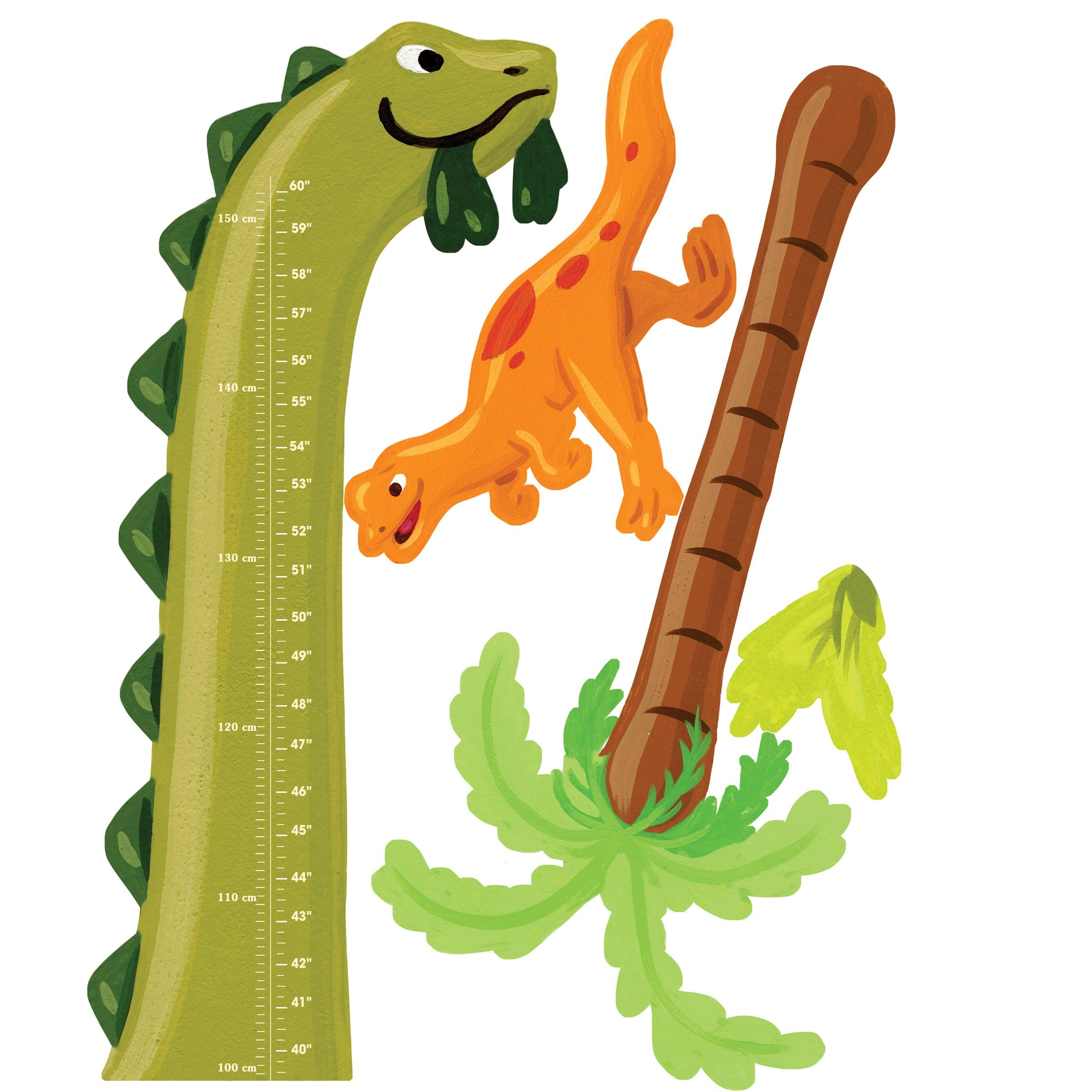 Wallies Wall Decals, Dino Growth Chart Wall Sticker, 35-inch x 41-1/2-inch