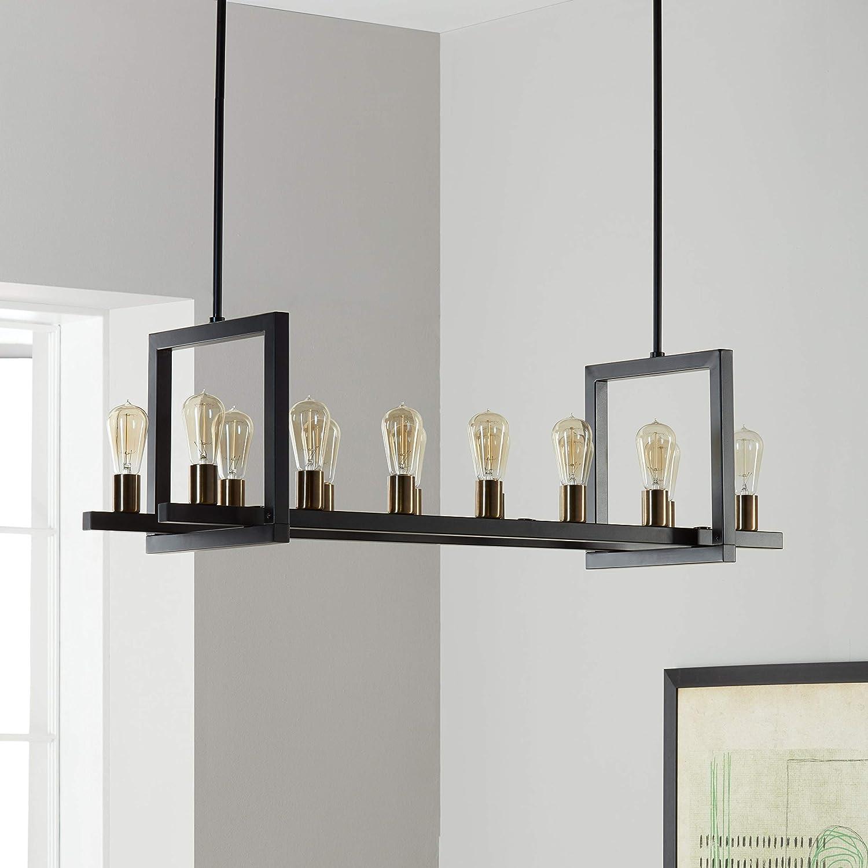 Amazon.com: Griffin metal rectangular 14-light – Lámpara de ...
