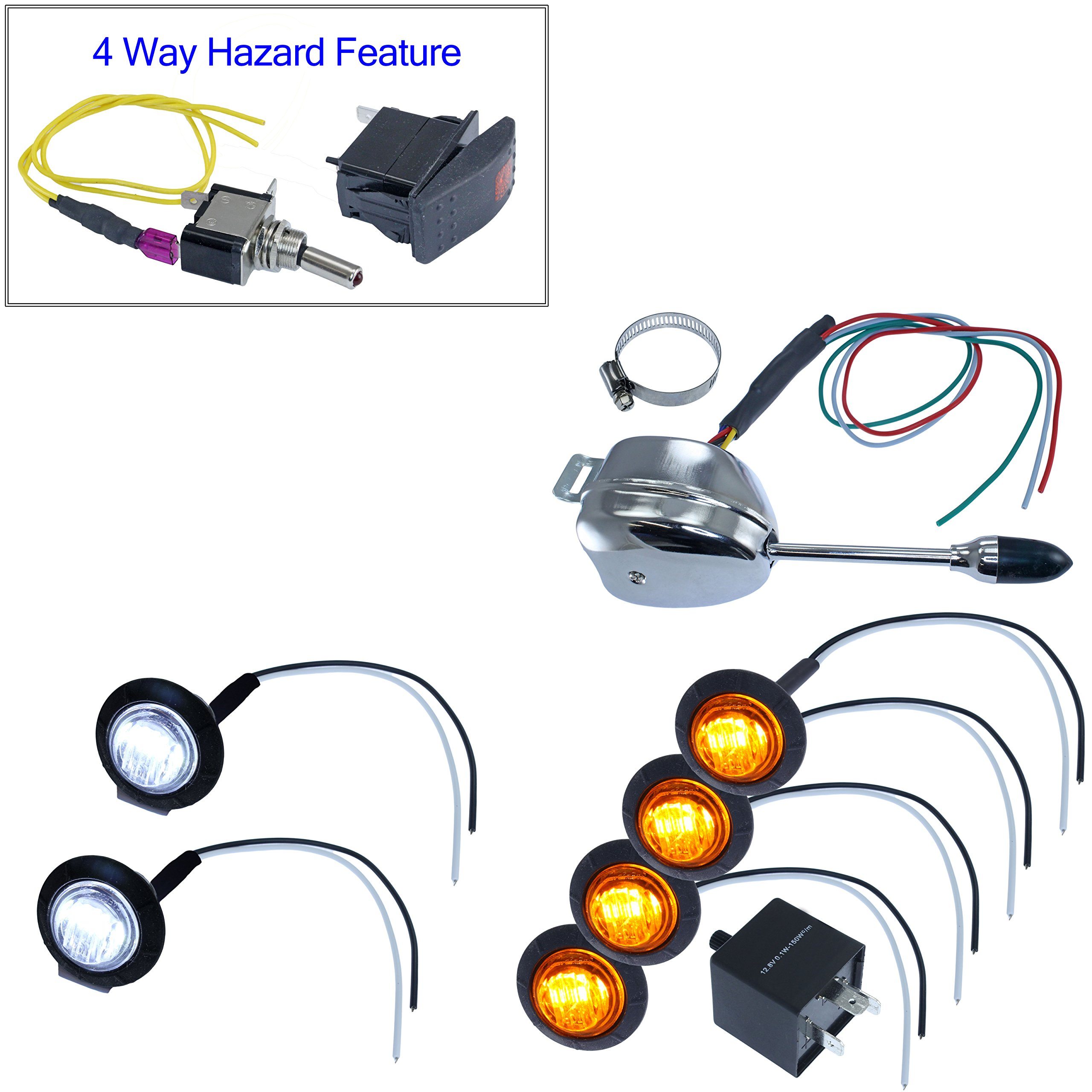 Turn Signal Kits (No Install Kit & No Horn, Lever Switch) by Advance MCS Electronics