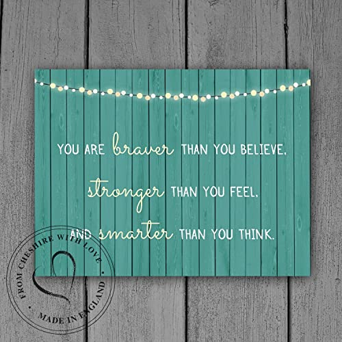 Winnie The Pooh Quote Print You Are Braver Than You Believe