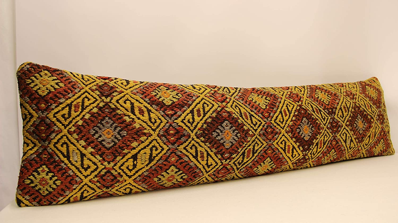 30x60 cm Oriental Boho pillow Turkish pillow small Oblong  Kilim Cushion CoverTribal Pillow 4oaf-56 Handmade Lumbar kilim pillow 12x24inch
