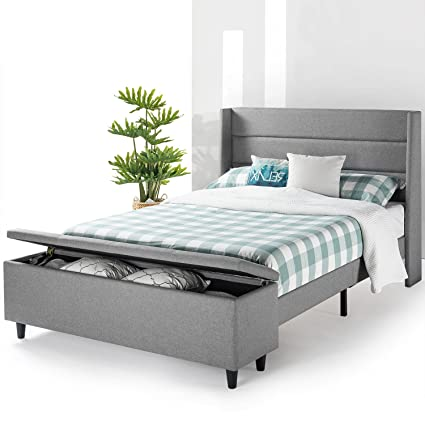 Amazon Com Mellow Modern Upholstered Platform Beds With With