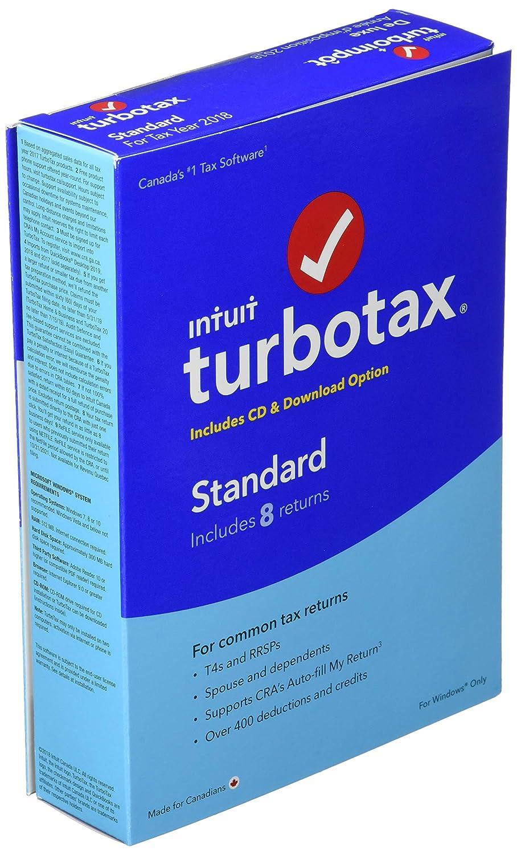 TurboTax/ImpotRapide TurboTax Standard 2018, 8 Returns