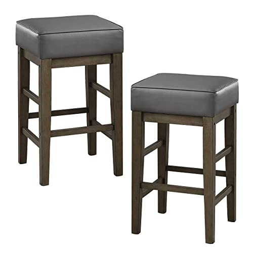 Lexicon Ellendale Counter Height Stool Set of 2 , 26 SH, Gray
