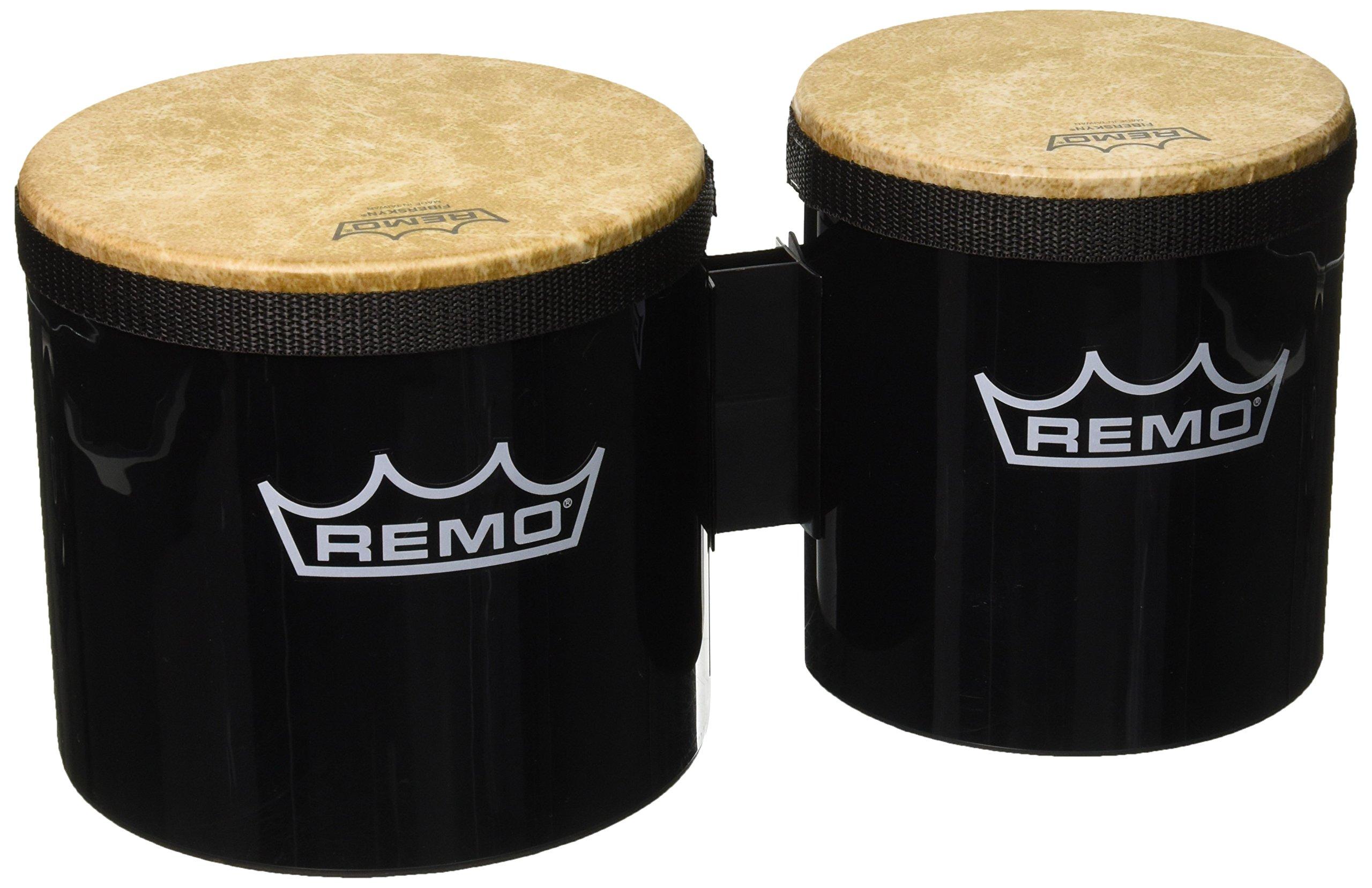 Remo BG-5300-70 Festival Bongo Drum - Black, 6''- 7''