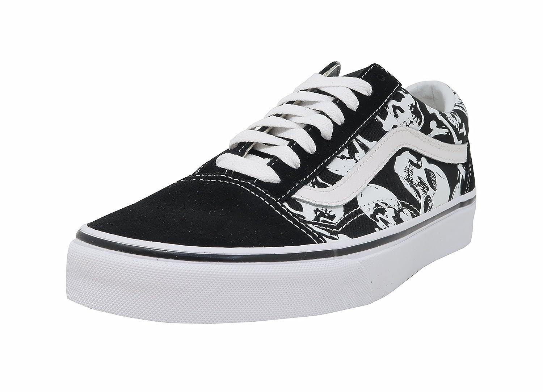 vans old skool skulls noir & blanc skate chaussures
