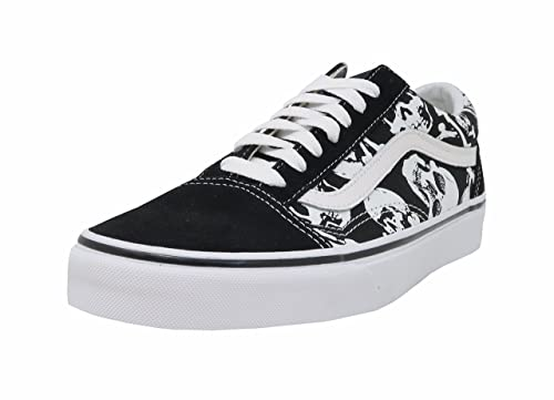 b92cf7bf64d899 Vans Unisex Shoes Old Skool (Skulls) Black White Fashion Sneakers (8 D