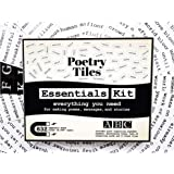 Poetry Tiles - 832 Essential Word Magnets Starter Kit for Refrigerator Poems and Stories - Includes Alphabet Headers…