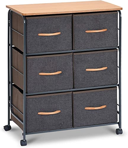 Giantex Drawer Storage Organizer Unit W/Easy Pull Fabric Bins