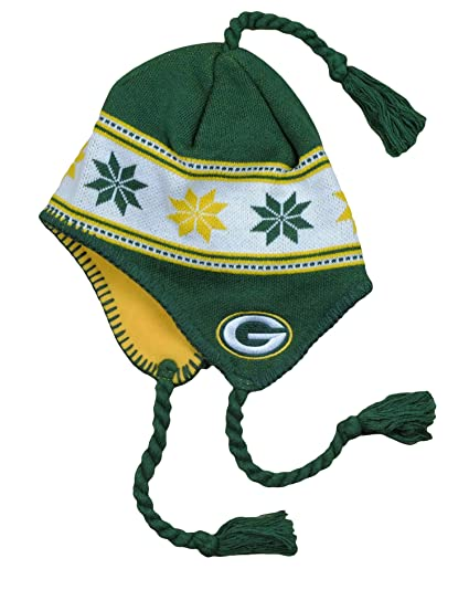 d01e1ec4e Image Unavailable. Image not available for. Color  Outerstuff Green Bay  Packers NFL Big Boys 8-20 Tassel Knit Winter Hat ...