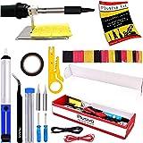 Soldering Iron Kit Electronics, Soldering Iron 60W Adjustable Temperature, Solder Wire, Wire Stripper, Desoldering Pump, Twee