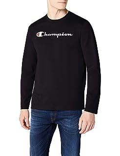 046644c1 Champion Men Crewneck Institutionals T-Shirt: Amazon.co.uk: Clothing