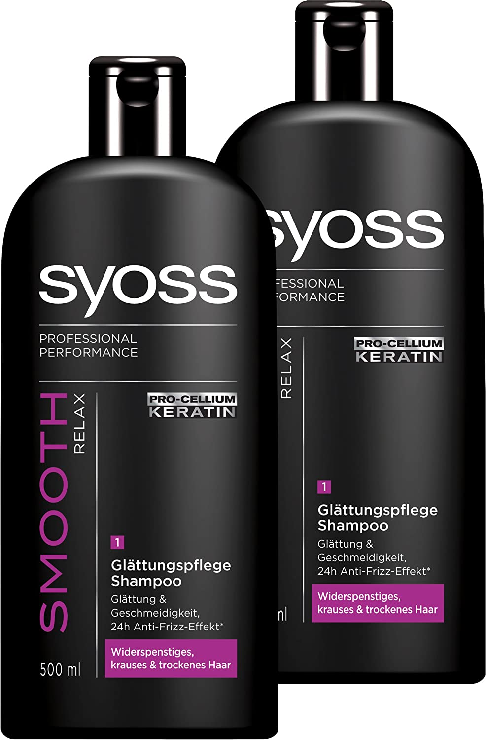 syoss Champú Smooth Relax 2 Pack (2 x 500 ml): Amazon.es: Belleza