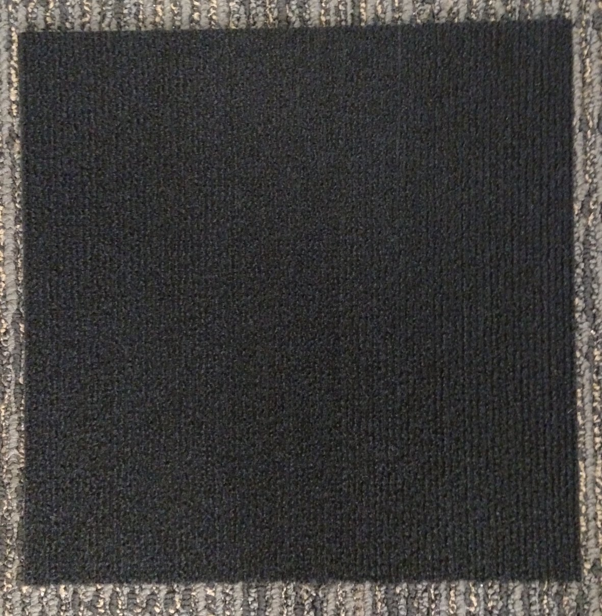 Carpet Tiles Peel and Stick Black 12 Inch, 36 Square Feet