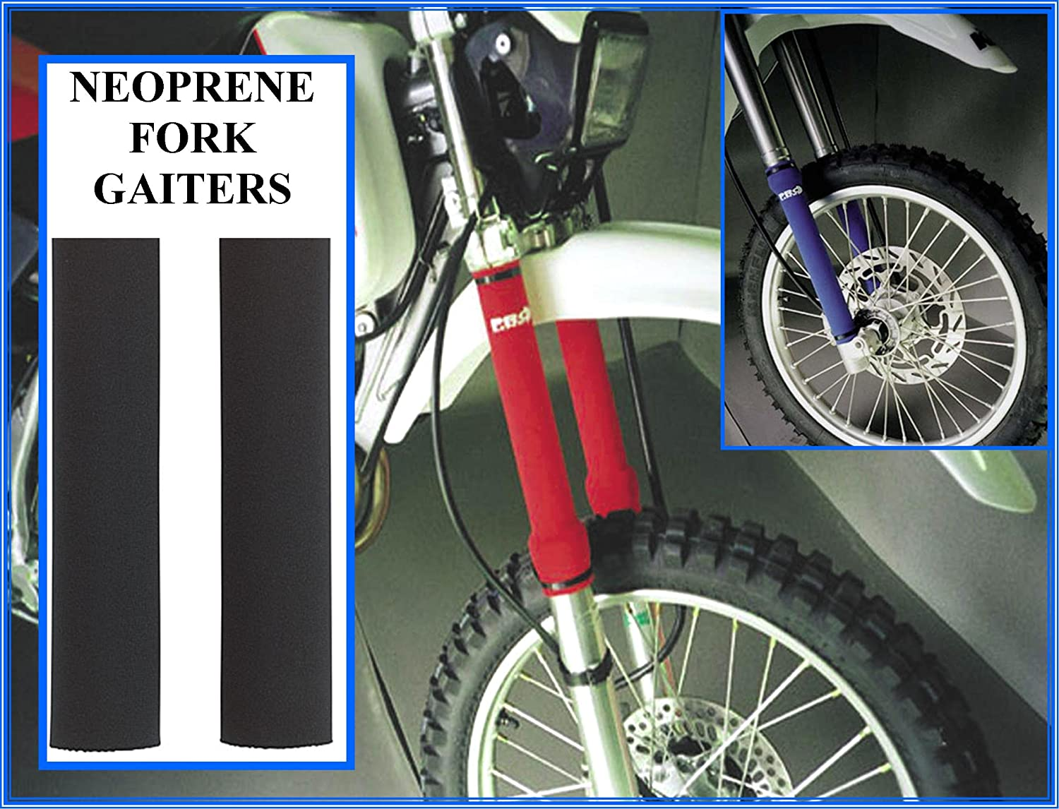 Neoprene Fork Guards Black
