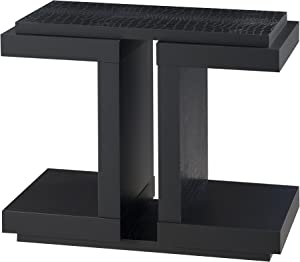 Furniture of America Kathleen Contemporary End Table, Black