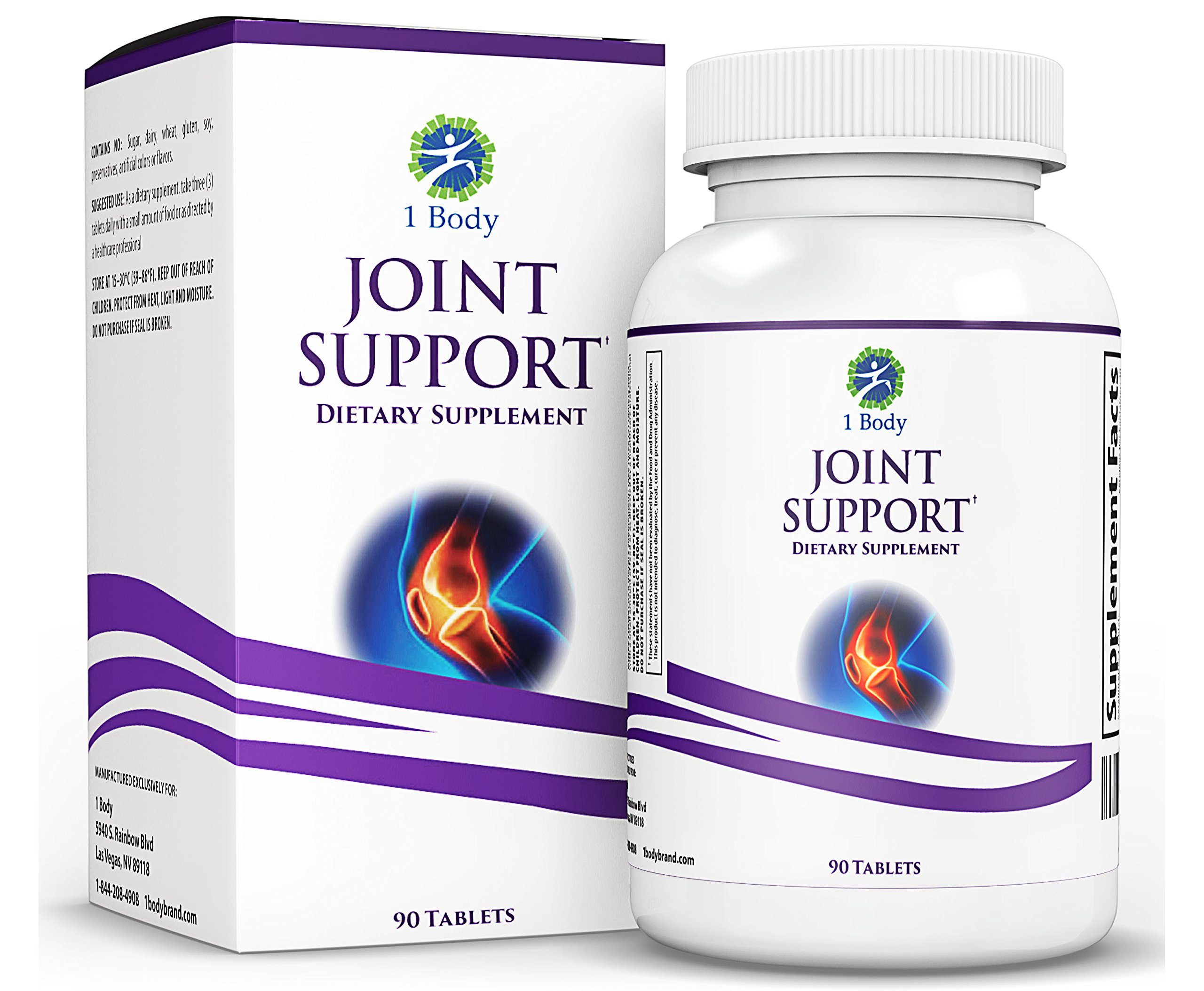 Joint Support Supplement – Turmeric Curcumin ( Curcuma Extract 95% Curcuminoids ), Glucosamine, Chondroitin, MSM, ApresFlex, Ginger Root, Bromelain, Quercetin & More