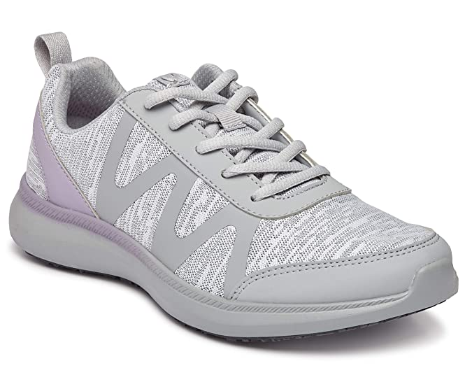 a6586428601b8 Vionic Women's Simmons Kiara Lace-up Service Shoes- Ladies Slip Resistant  Shoe with Concealed Orthotic Arch Support