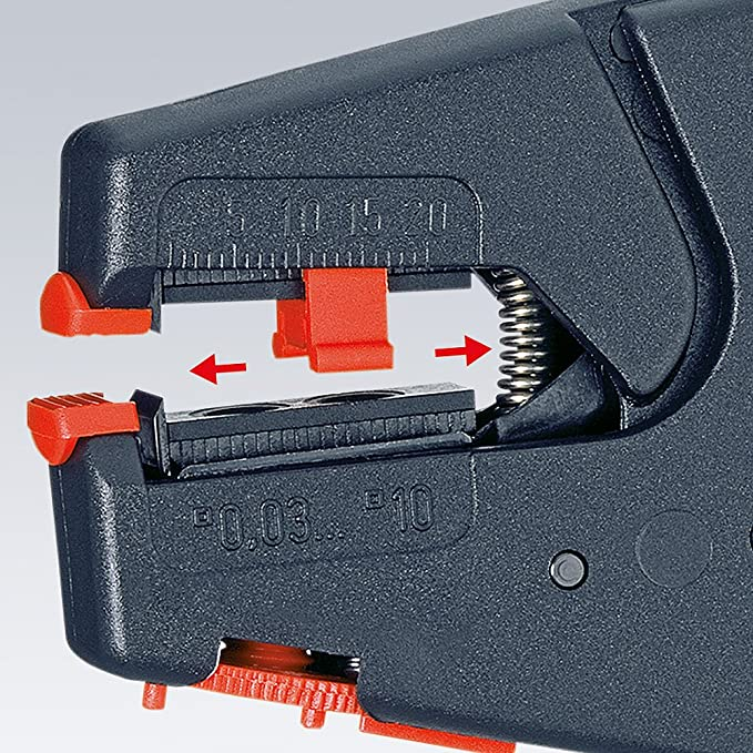 Knipex 12 40 200 SB Self-Adjusting Insulation Strippers 0, 03-10mm in blister packaging - - Amazon.com