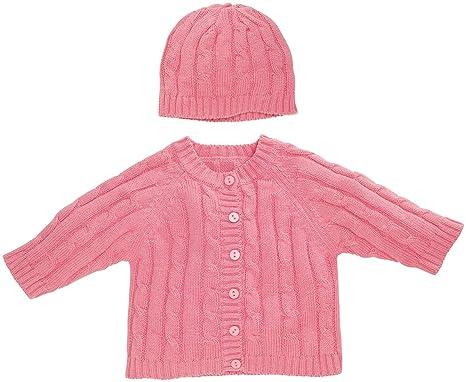 20af0b7de941b8 Amazon.com: Elegant Baby Sweater Set (Baby) - Raspberry-6 Months ...