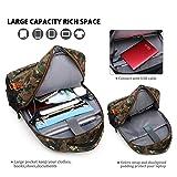 DTBG Solar Backpack 15.6 Inch Laptop Backpack