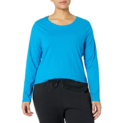 JUST MY SIZE Women's Plus Size Long Sleeve Tee at Women's Clothing store