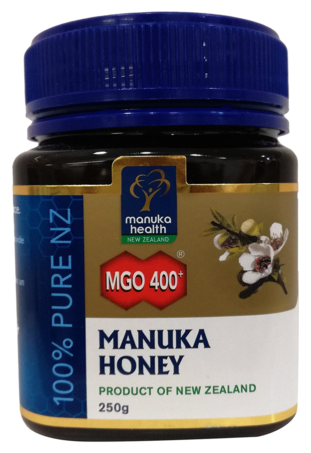 Manuka Health - MGO 400+ Manuka Honey, 100% Pure New Zealand Honey, 8.8 Ounce