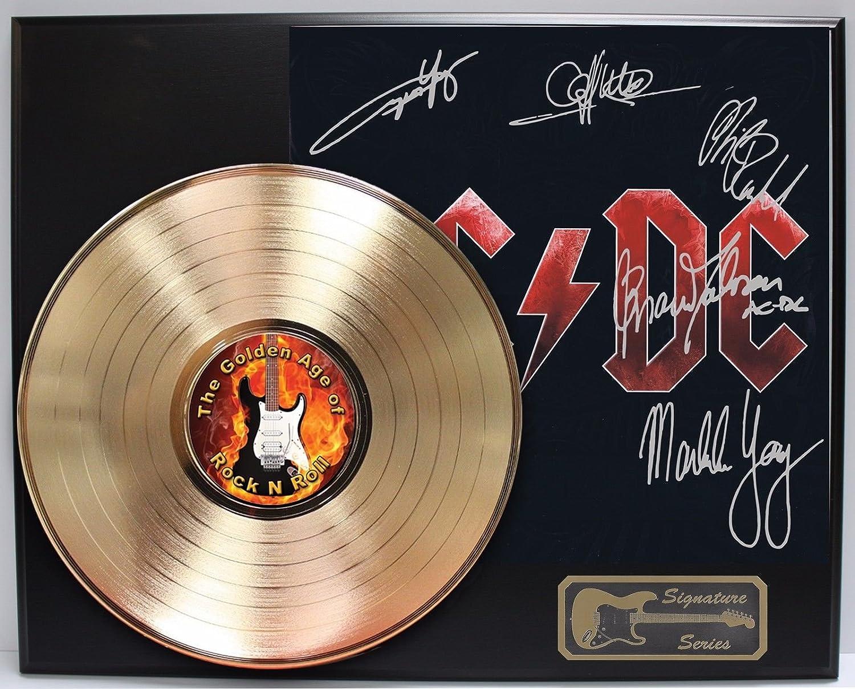 ACDC Black Ice Gold LP Signature Display M4