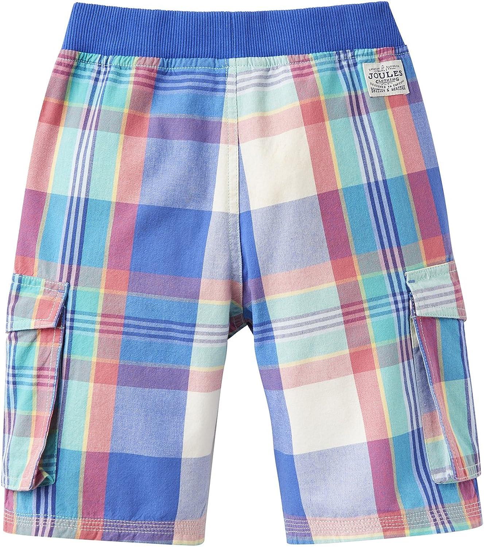 Joules Kids Mens Plaid Cargo Shorts Toddler//Little Kids//Big Kids