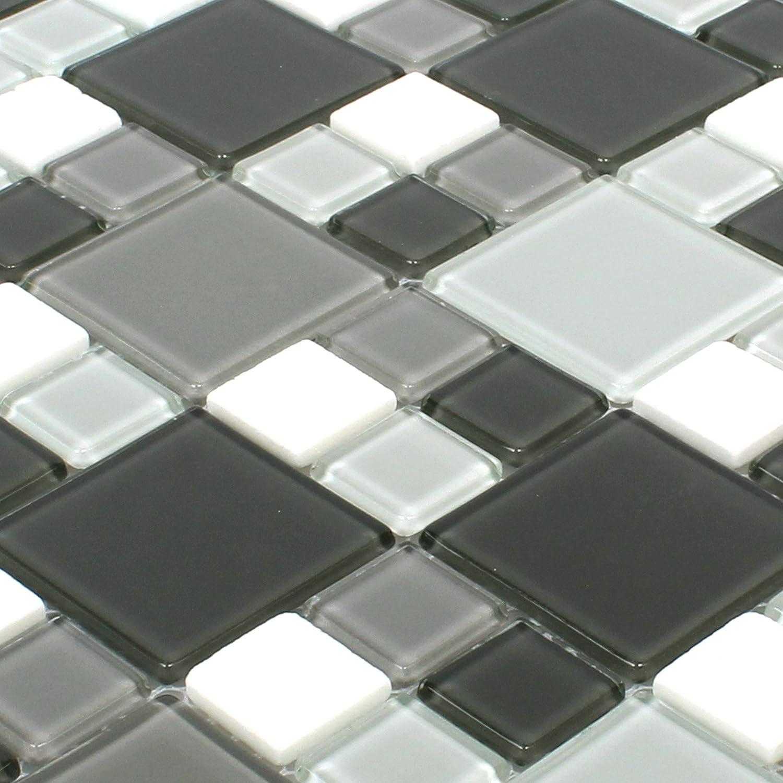 Mosaikfliesen Bangkok Schwarz Grau Weiss Wandfliesen Mosaik