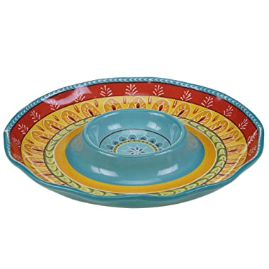 Certified International Valencia Chip & Dip, 13.25 , Multicolor