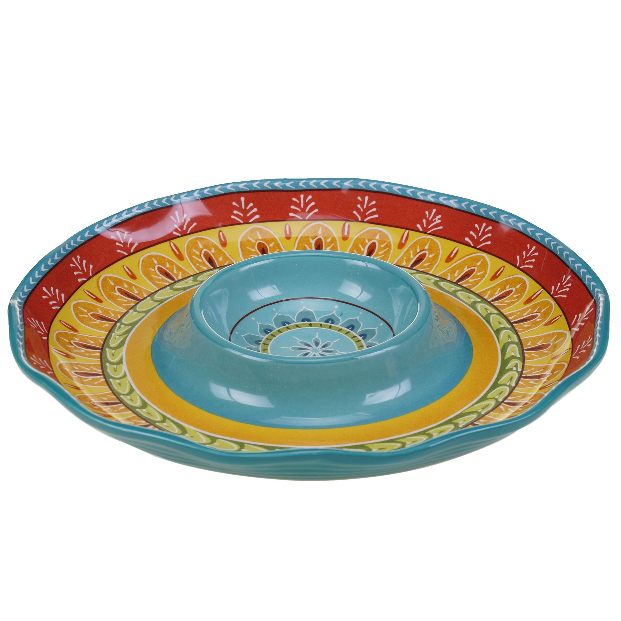 Certified International Valencia Chip & Dip, 13.25'', Multicolor
