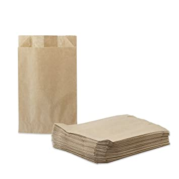 50 Kraft bolsas de papel 12+(2x2)/20 cm 40gr./m2. papel para ...